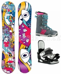 Dětský a dívčí snowboardový komplet Beany Bark pro dívky a holky