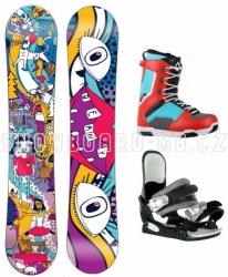 Juniorský a dětský snowboardový komplet Beany Bark s botami a vázáním