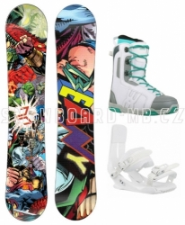 Juniorský dívčí snb komplet Beany Heropunch comics s vázáním a botami