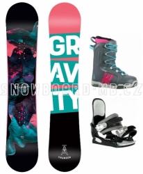 Dámský a dívčí snowboardový set Gravity Thunder s vázáním a botami