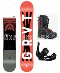 Komplet snowboard Gravity Madball, vázání Head NX one a boty Beany Teen