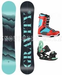 Dámský a dívčí snowboard komplet Gravity Sirene s vázáním a botami