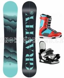 Dámský snowboard komplet Gravity Sirene s botami Westige Max blue/red