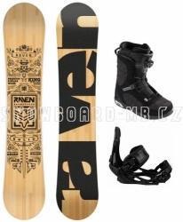 Snowboardový set Raven Solid s vázáním a botami Head s Boa kolečkem