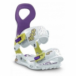 Dámské snowboardové vázání Drake Queen yellow/white/purple