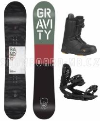 Pánský snowboardový komplet Gravity Bandit, vázání a rychlozapínací boty