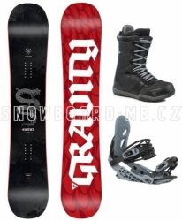 Pánský snowboard komplet Gravity Silent 2020/21
