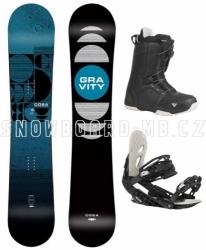 Snowboard komplet Gravity Cosa s botami s utahováním kolečkem Atop
