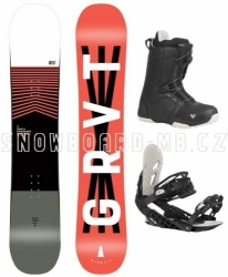 Allmountain/freestyle snowboard komplet Gravity Madball, boty s kolečkem