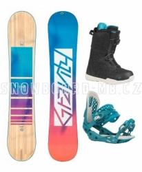 Dámský snowboard komplet Gravity Trinity 2020/21 s rychloutahovacími botami