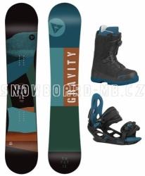 Dětský a junior snowboardový set Gravity Empatic Jr s botami s Atop kolečkem