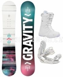 Dívčí junior snowboard komplet Gravity Fairy white