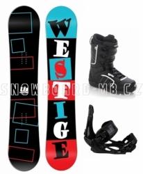 Výhodný a levný snowboard komplet Westige Square s botami