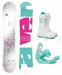Dívčí snowboardový komplet Raven Pearl s vázáním a botami Gravity