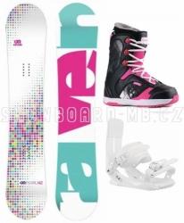 Dívčí dětský snowboardový komplet Raven Pearl s růžovými botami