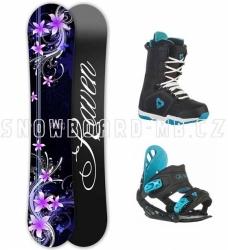 Dámský snb komplet Raven Flossy black, dámské snowboardy komplety